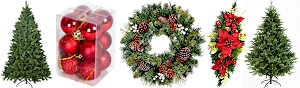 Festive Decorations - Find a great deal on christmas trees, home decorations and outdoor lighting.